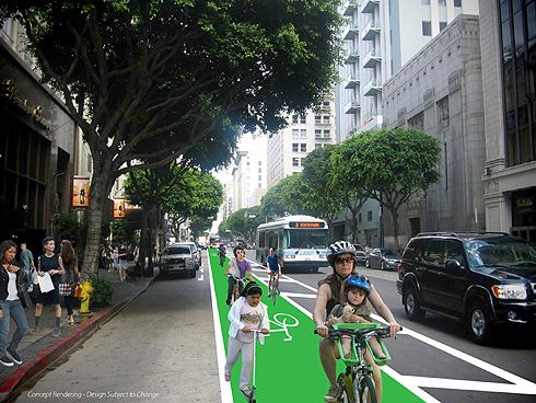 an analysis of the bike lanes in the american city of los angeles Cycling in los angeles accounts for less  of bike lanes and paths in the los angeles bike path  2011 city councilman ed reyes unveiled a new 22-mile bike lane .