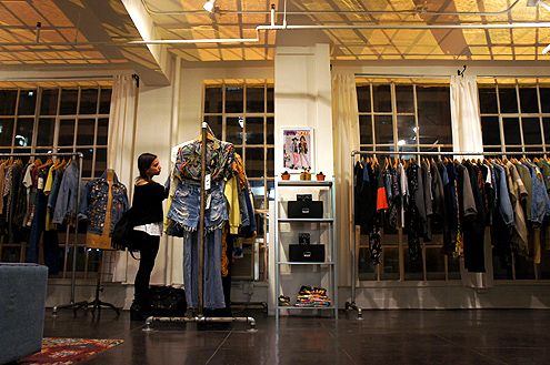 Denim Refinery is both a retail store and showroom located on the 8th floor of the historic Collection Building at 7th/Grand (across from Bottega Louie)