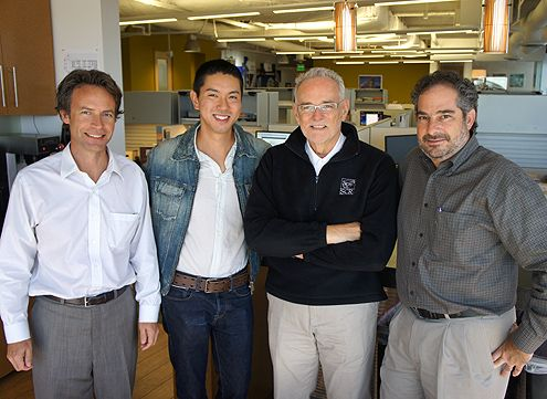My visit to the TCA office (L to R): Eric Olsen, me, Thomas Cox, Aram Chahbazian