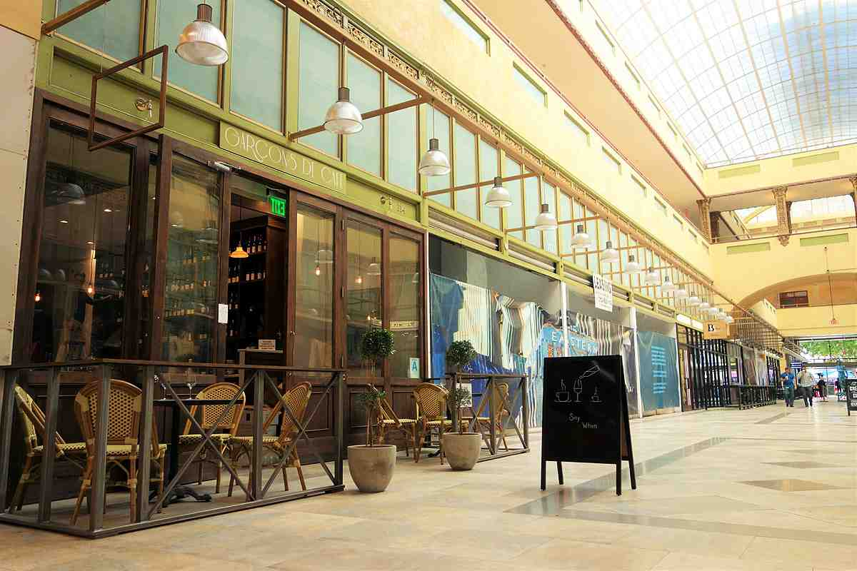 Garçons de Café is a new French wine bar and retail store now open in the Broadway Spring Arcade in Downtown LA