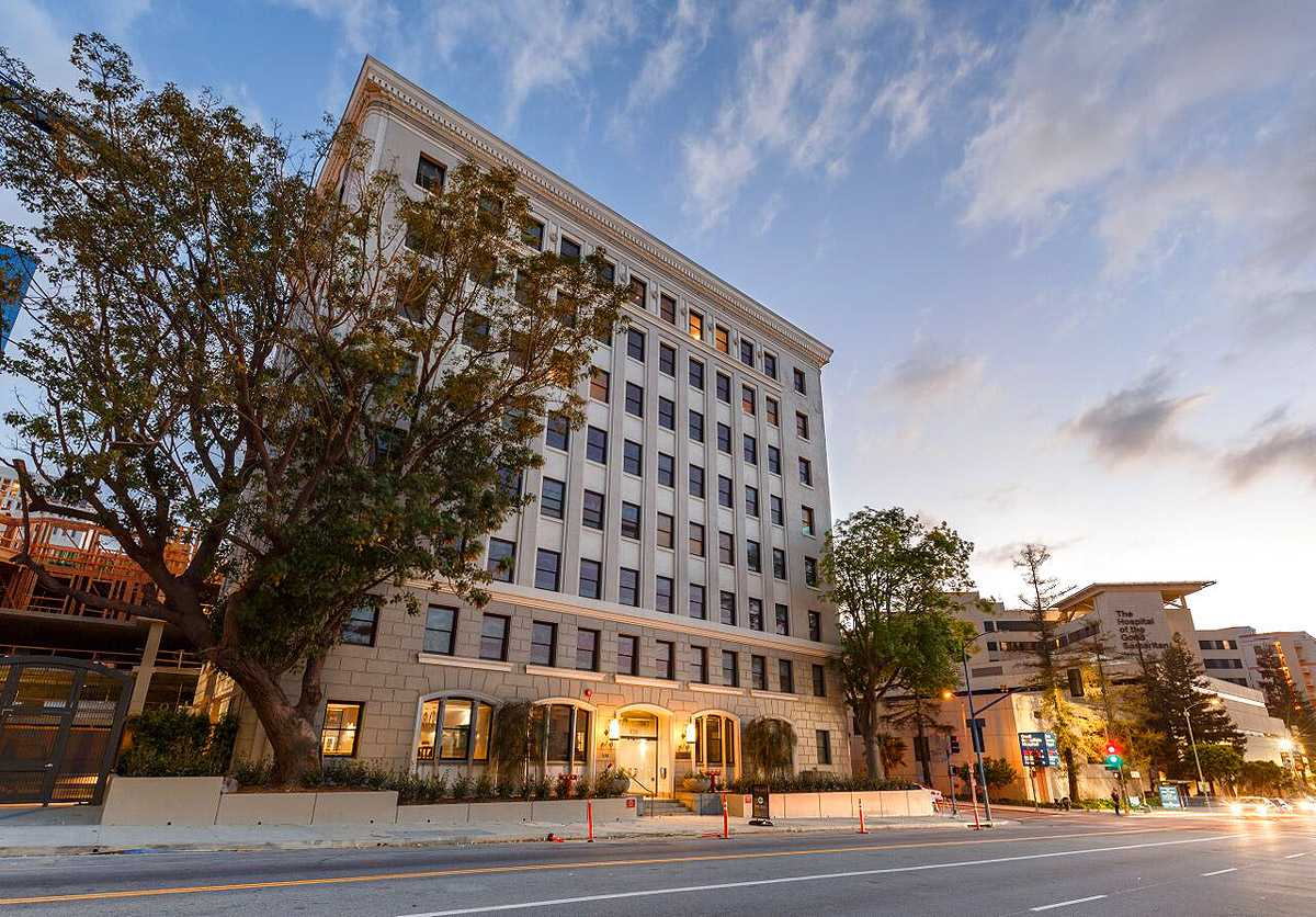 Holland Partner Group has converted this 8-story medical office building in Downtown LA's City West into 42 new loft-style luxury apartments called The Mint (Photo: The Mint)